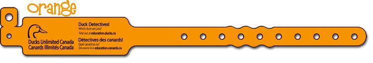 Orange Duck Detective Wristband