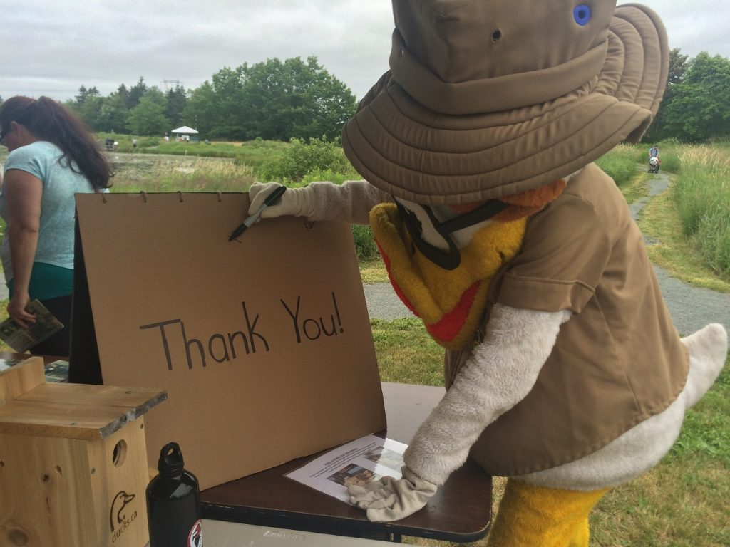 Nest boxes, thank you card