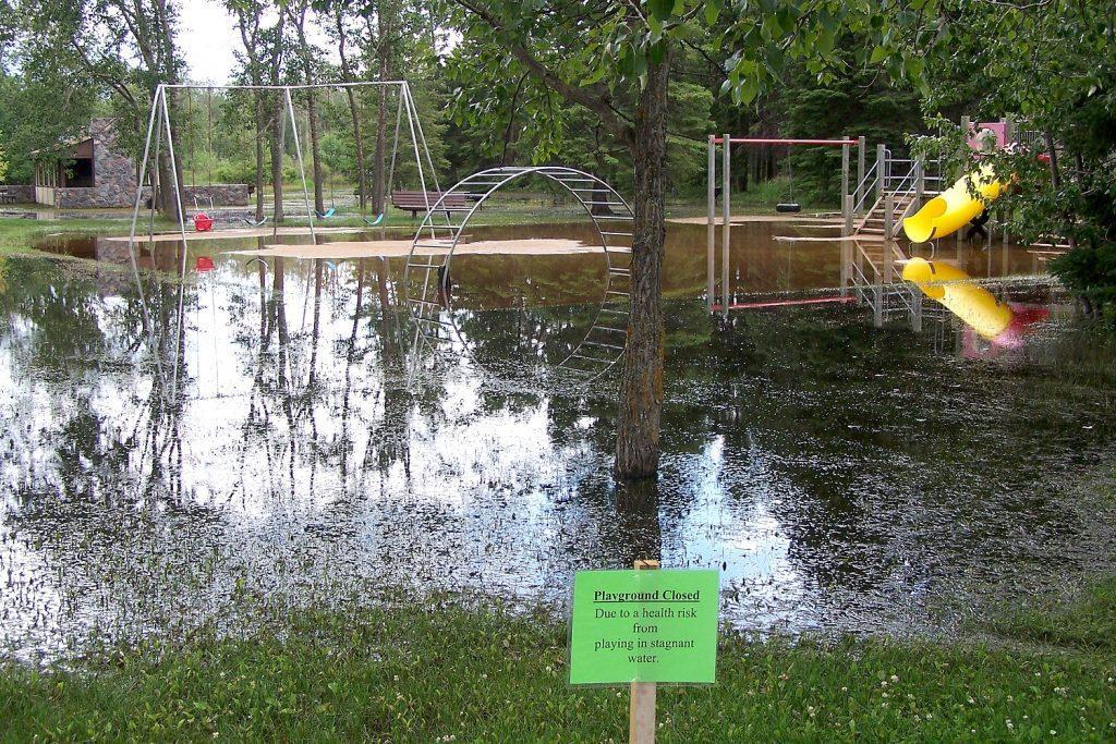 conservation concerns: flooded playground