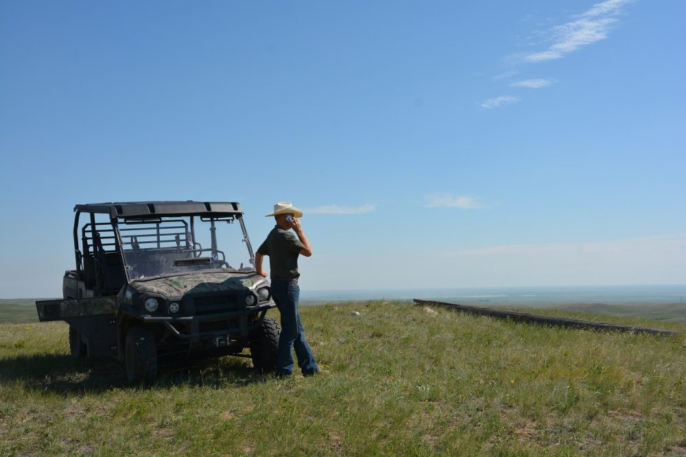 Jim Randle looks out over the grassland habitat at the Shell Buffalo Hills Conservation Ranch.