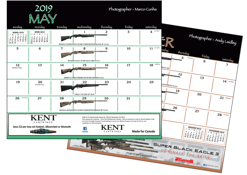 thank you for supporting wetland conservation and helping us sell out the 2018 firearm calendar