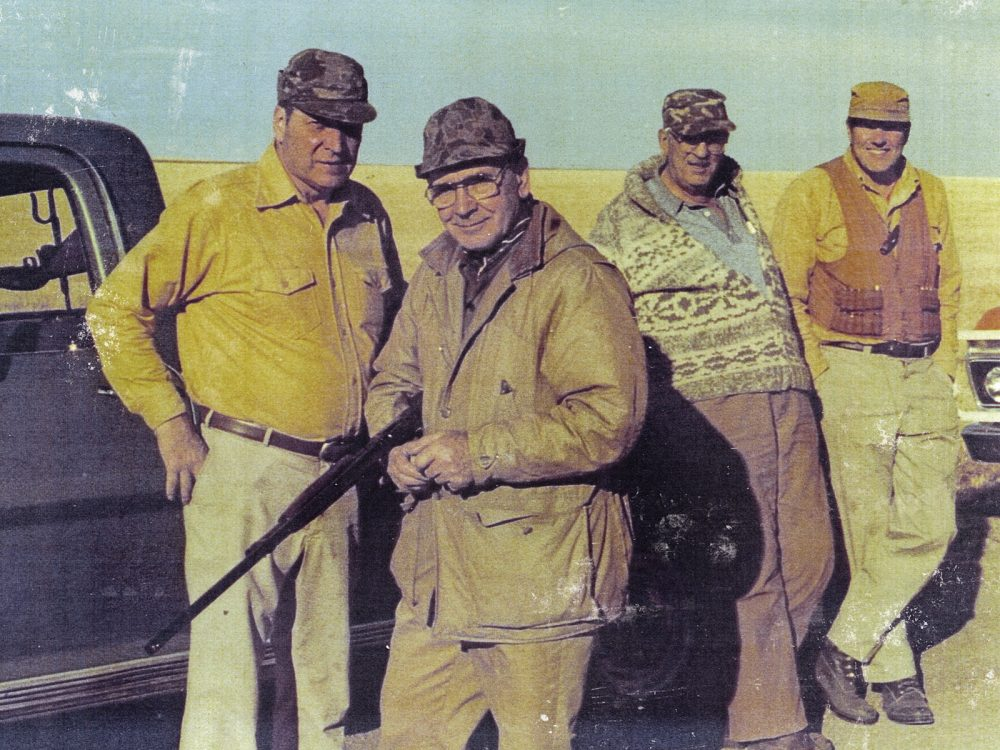 Glen Michelson with a hunting party.