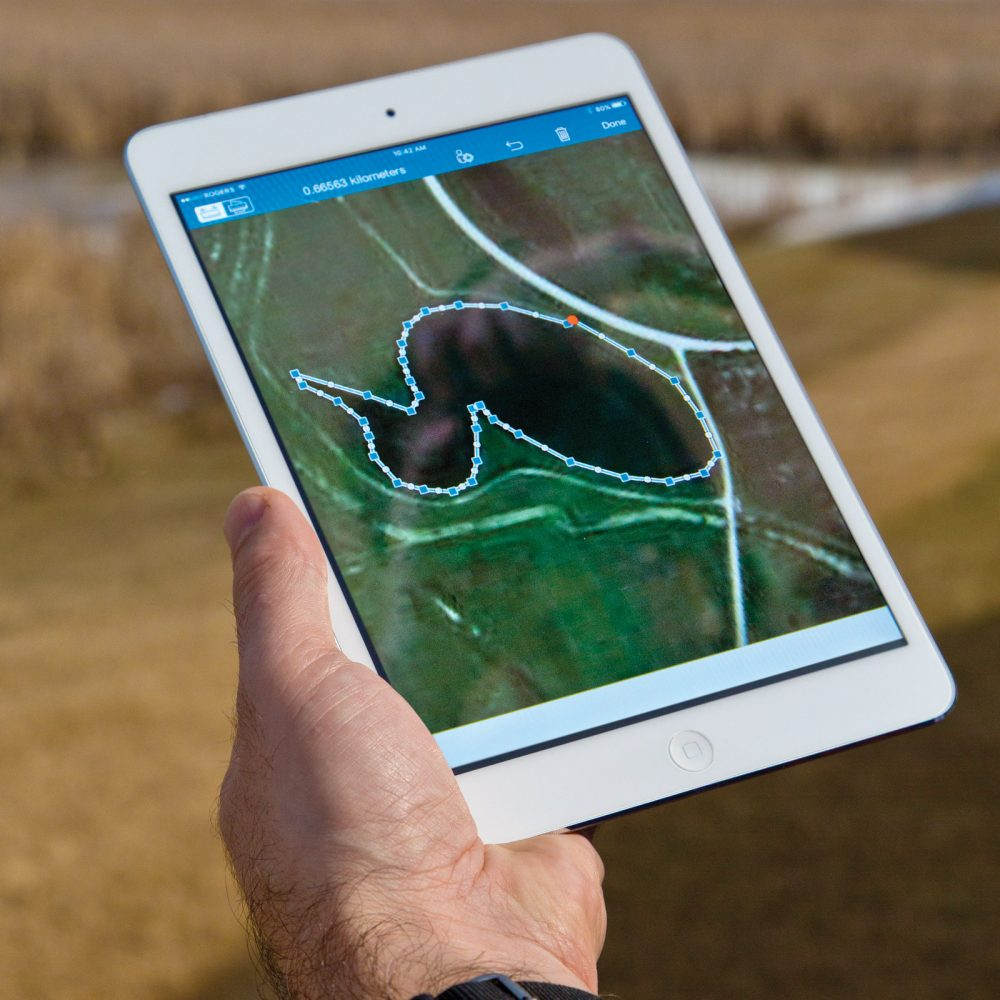 Data-rich maps produced by gis specialists touch almost every part of duc's work.