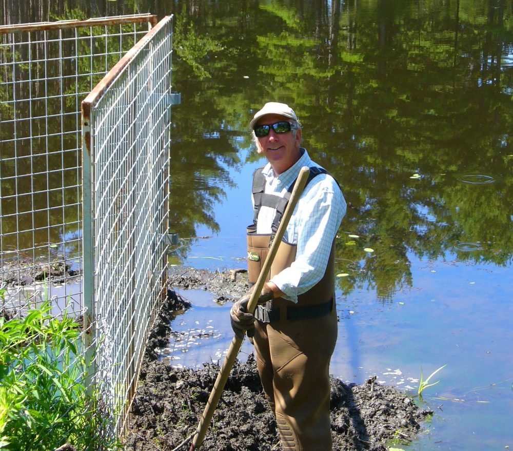 DUC contractor Jeff Beaver at a DUC habitat project.
