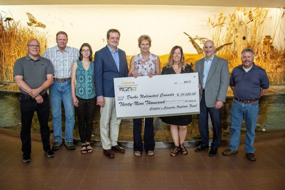 The project received a boost of support from the Cabela's Canada Outdoor Fund in July 2018.