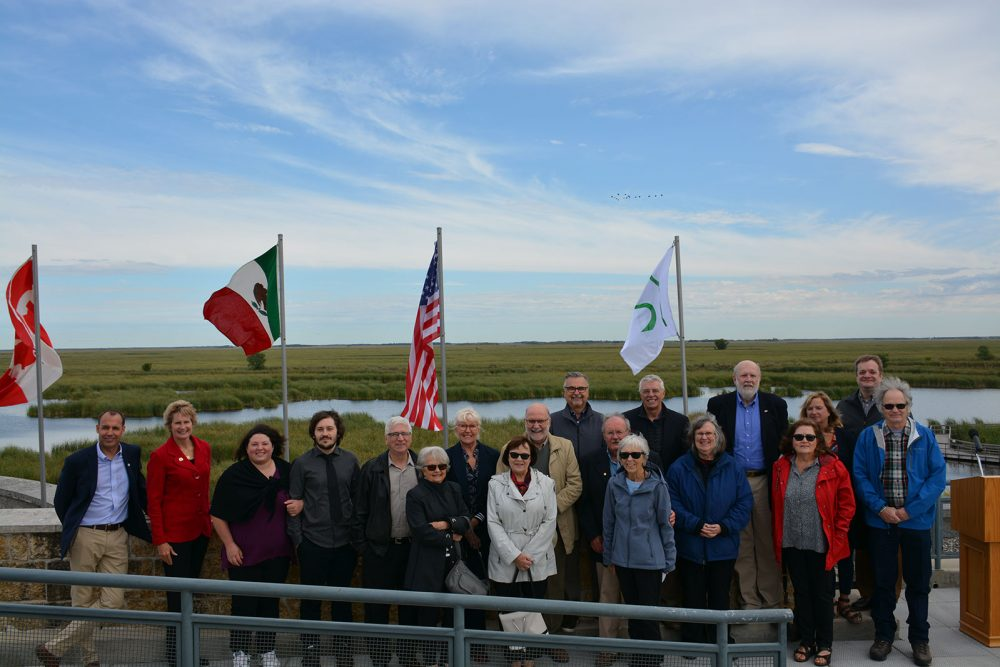 Friends and colleagues gather at Oak Hammock Marsh to celebrate the 2019 North American Waterfowl Conservation Honour Roll inductees.