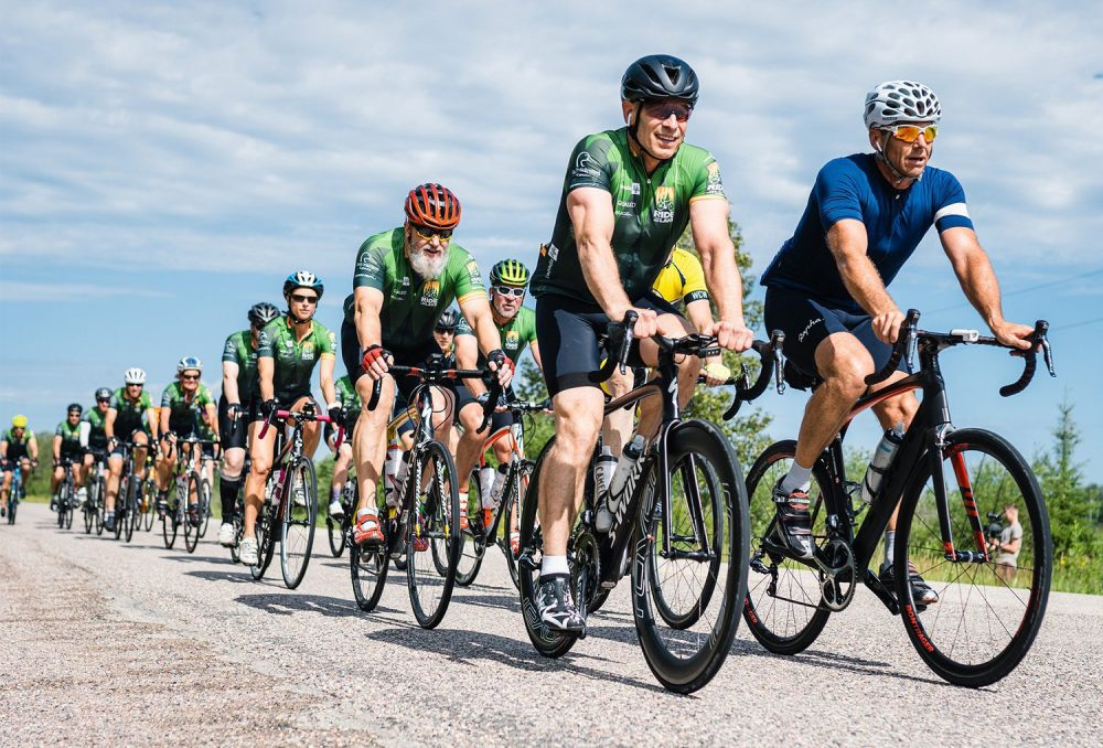 Cyclists raise money for wetland conservation at Canada Life Ride to the Lake.