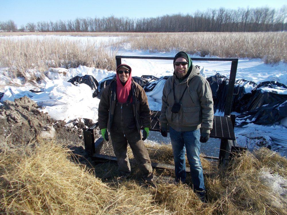 Contractor Bill Stapleton with DUC engineer Craig Berga.