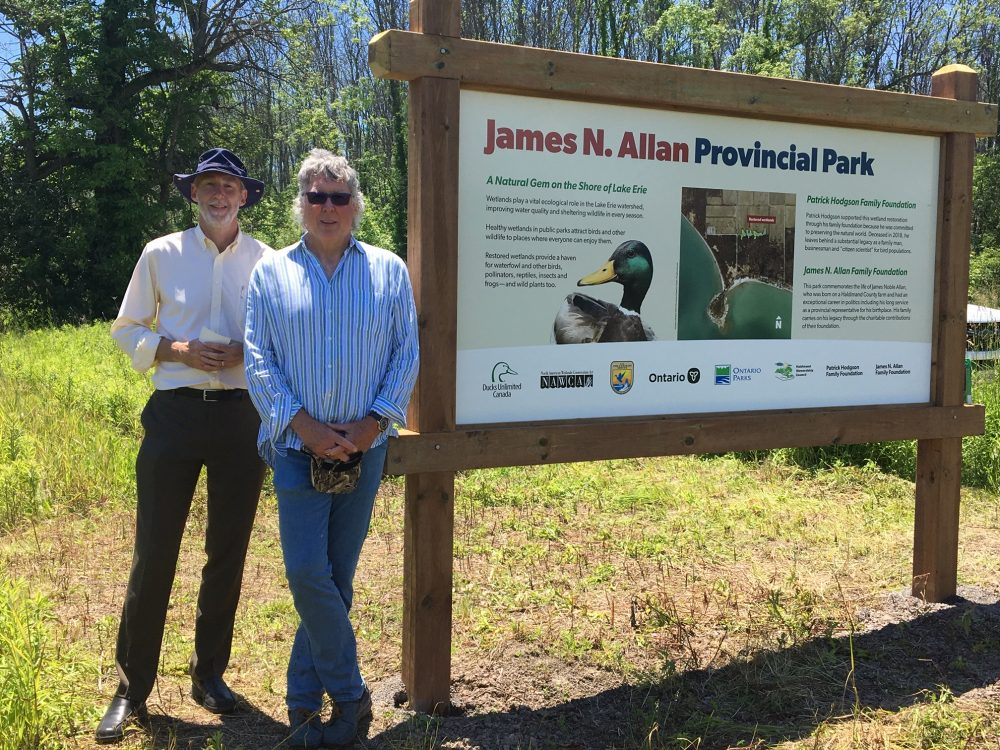 Honoured guests Scott and Phil Allan recently joined the other funding partners at the park that honours their grandfather's memory.