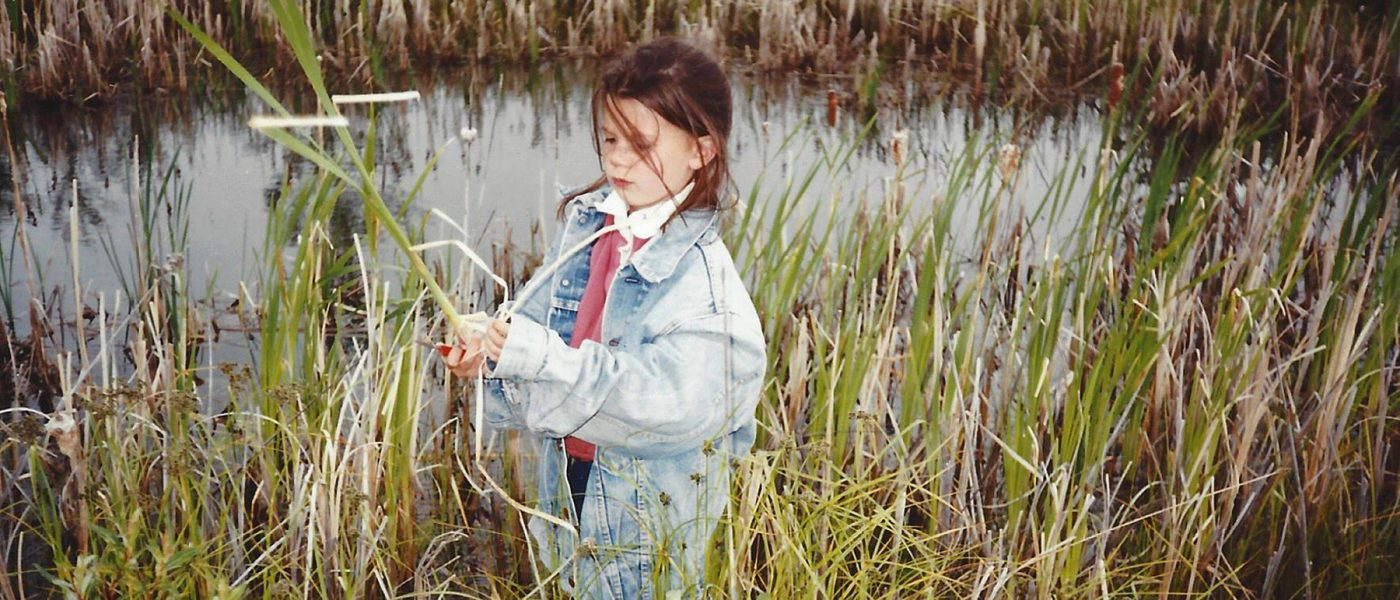 Photographic evidence of an early interest in wetlands—Lauren at age six.
