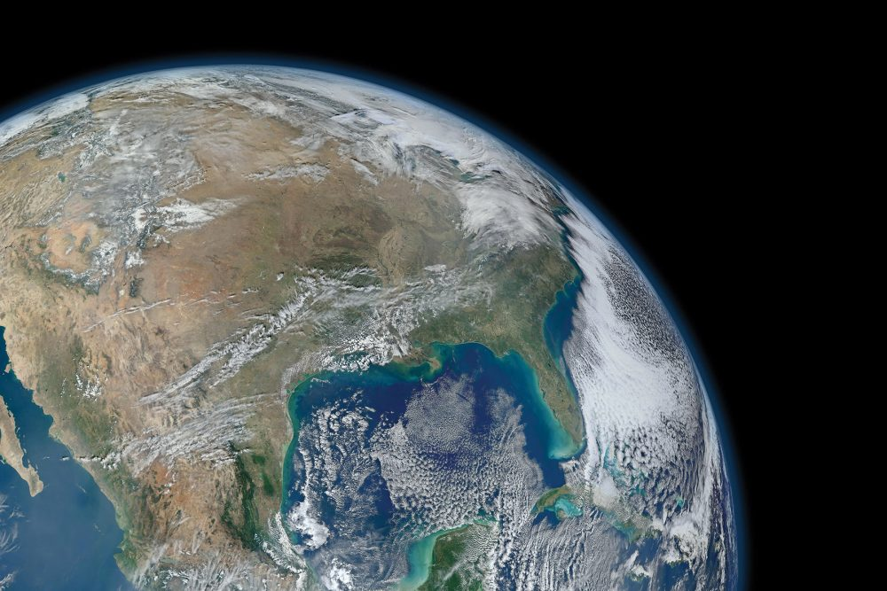 View of the Earth from space. NASA's Earth Observing fleet of satellites has relayed images that reveal remarkable improvements to our planet's air quality while the COVID-19 pandemic keeps people at home.