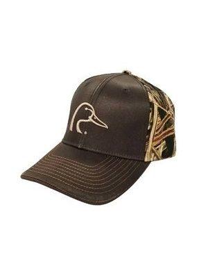 DUC Gear™ Cap, brown waxed & Mossy Oak camo