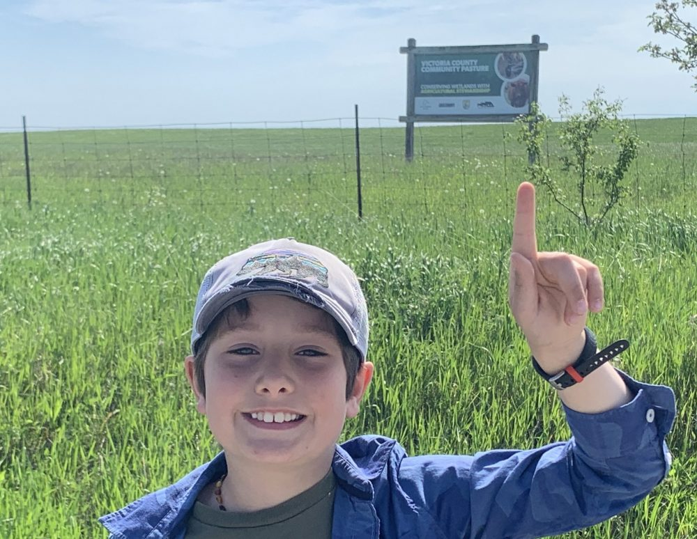 Parker Beaudry joined his mom, Jenn, a DUC conservation specialist, on field trips this summer.
