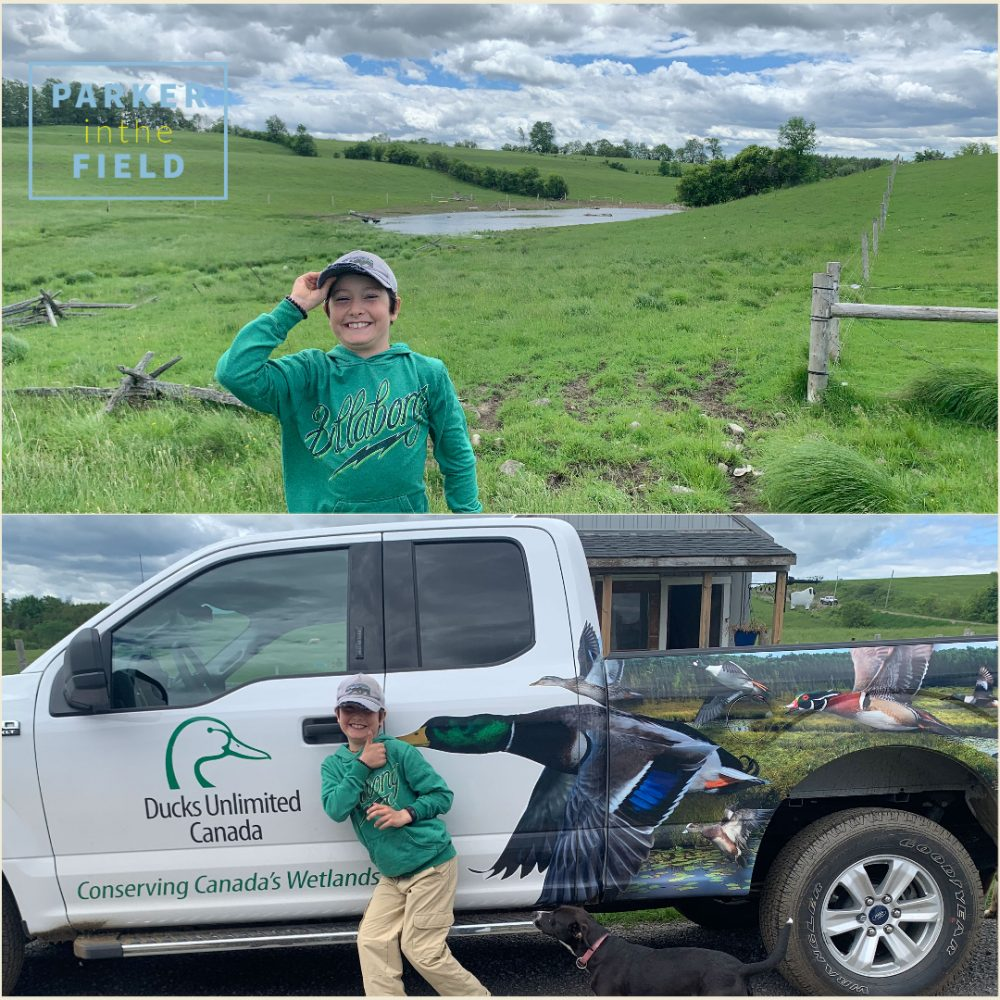 Wetland Hero Parker Beaudry and his mom curated his field notes and their snapshots for DUC's social media.