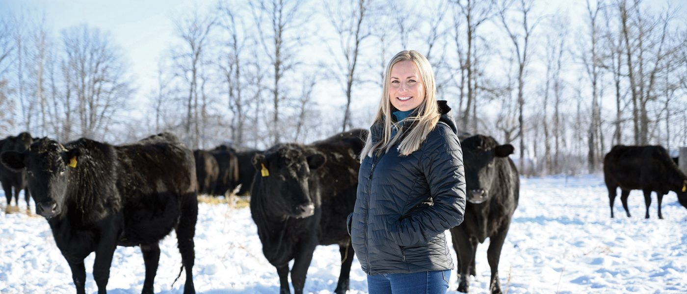 "DUC's Karli Reimer advocates on behalf of the beef industry, because ""raising cattle in Canada is actually good for our environment."""