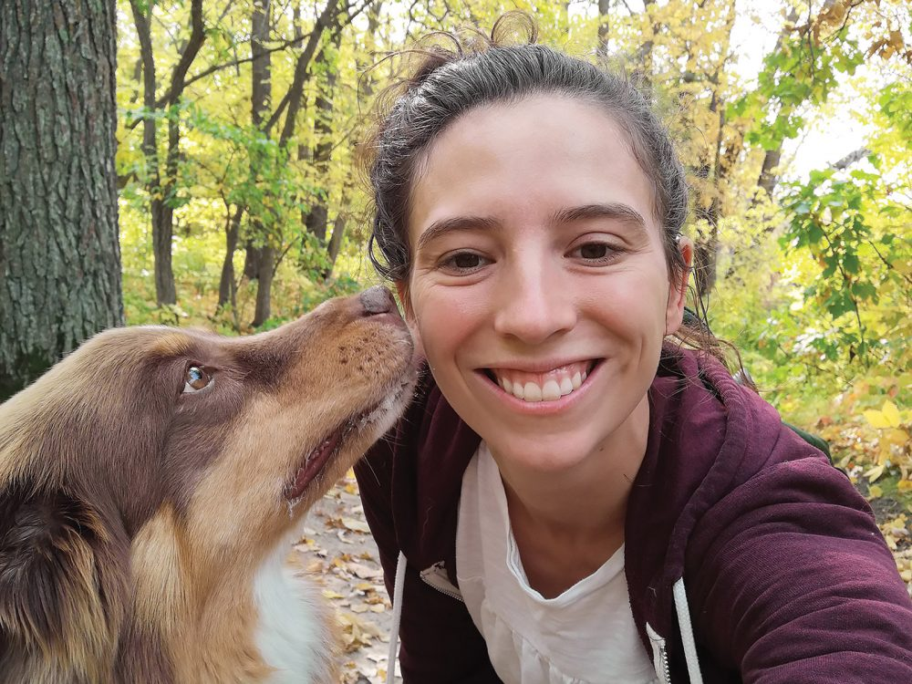 DUC's head of national education Mariane Bolla (with her dog Rudy), is working with her team to prepare young up-and-coming conservationists.
