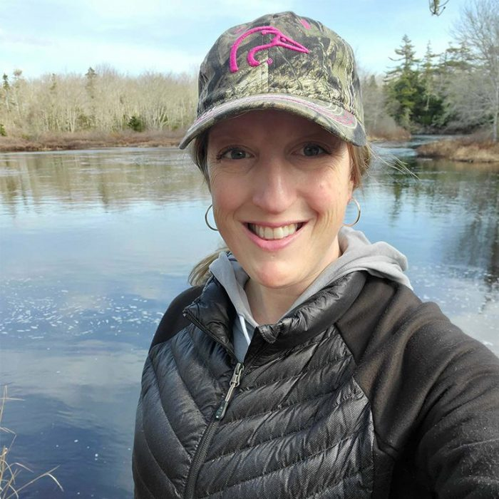 DUC volunteer Angèle Scott has a strong connection with nature and enjoys spending as much time as she can outdoors.