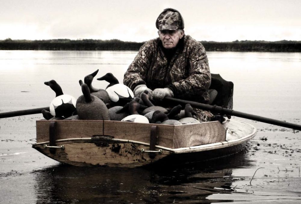 An avid waterfowler, Baldwin bred Labrador retrievers, carved and painted his own working decoys, and built wooden hunting boats. His favourite waterfowling areas were the 'diver' marshlands surrounding Manitoba's great lakes.