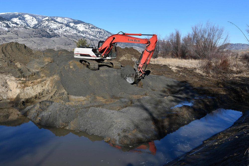 DUC excavated nine new small wetlands aimed at providing habitat primarily for spadefoots, but also for tiger salamanders. Both are species at risk in B.C.