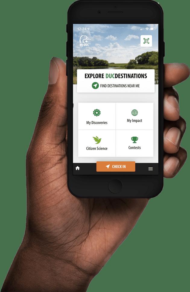 MyDuc App Dashboard screen