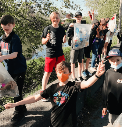 Chilliwack Middle School students clean up Hope Slough