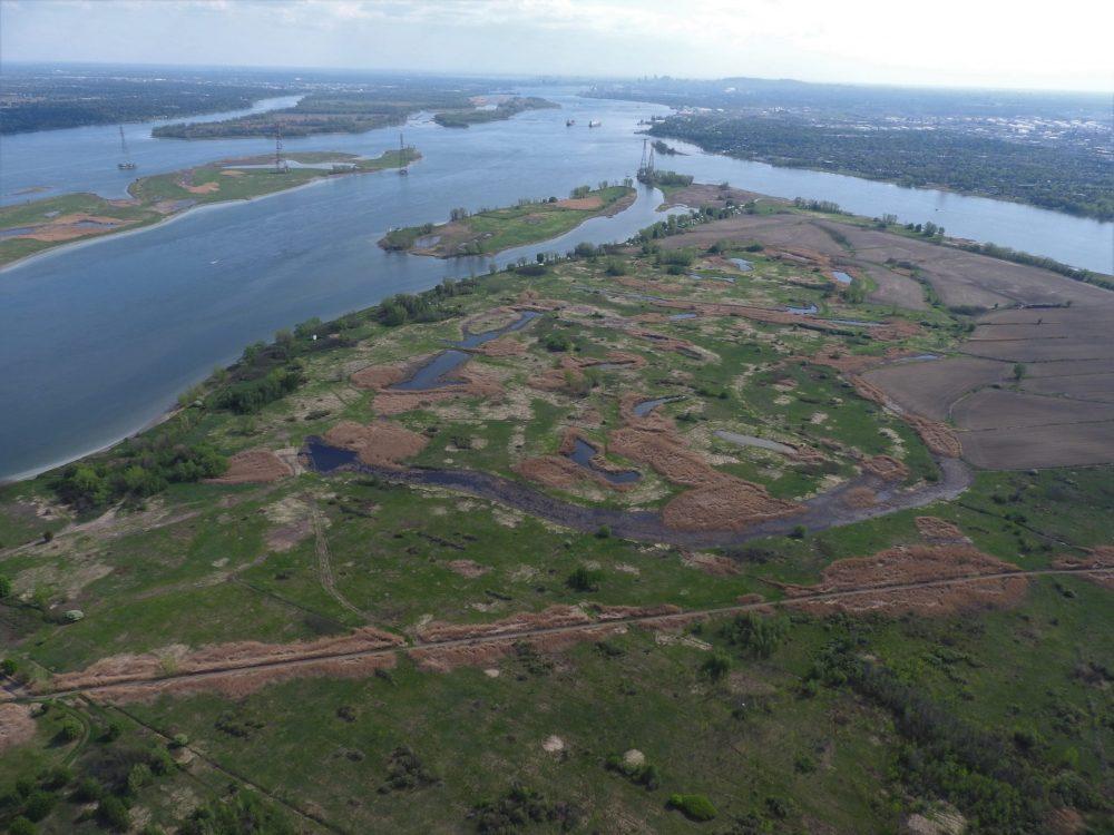 Aerial view of Sainte-Thérèse Island