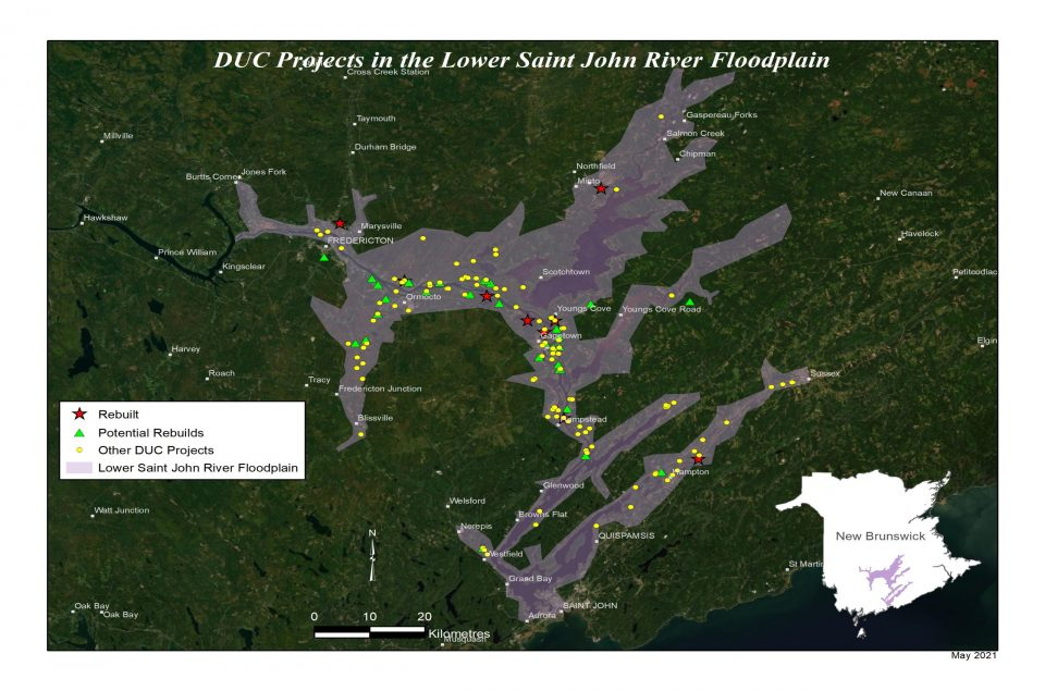 Saint John River floodplain map
